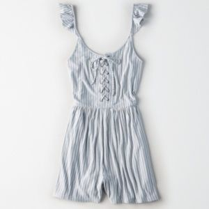 AE Knit Lace-Up Romper